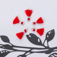 Mini chwosty w srebrnym okuciu czerwony 10mm
