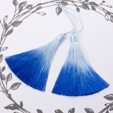 Chwost z wiskozy ombre niebieski 10cm