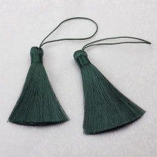 Chwost z wiskozy ciemny zielony ok. 80mm