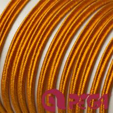 Sznurek do sutaszu 3mm mandarynkowy SZPULA