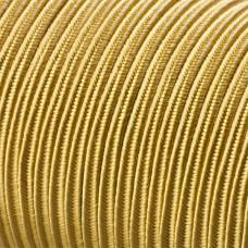 Sznurek do sutaszu acetatowy 3mm złoty SZPULA