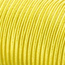 Sznurek do sutaszu acetatowy 3mm kanarkowy SZPULA