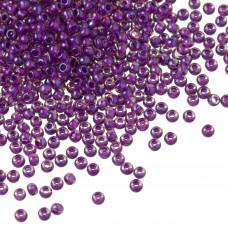 Koraliki TOHO Round 11/0 Inside-Color Rainbow Rosaline/Opaque Purple Lined