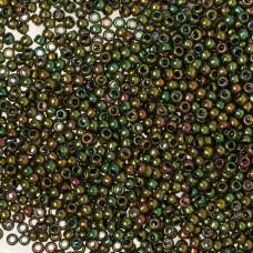 Koraliki TOHO Round 11/0 Higher-Metallic Iris Olivine