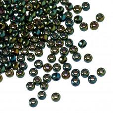 Koraliki TOHO Round 8/0 Metallic Iris Green/Brown