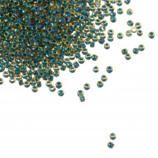Koraliki TOHO Round 15/0 Inside-Color Topaz/Opaque Emerald Lined