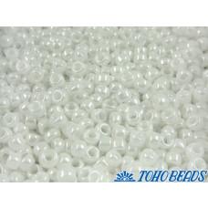 Koraliki TOHO Round 6/0 Opaque-Lustered White