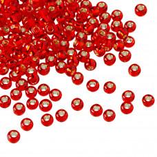 Koraliki TOHO Round 8/0 Silver-Lined Siam Ruby
