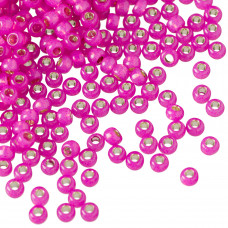 Koraliki TOHO Round 8/0 Silver-Lined Milky Hot Pink