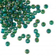 Koraliki TOHO Round 8/0 Trans-Rainbow-Frosted Green Emerald