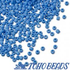 Koraliki TOHO Round 11/0 Opaque-Frosted Cornflower