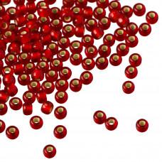 Koraliki TOHO Round 8/0 Silver-Lined Frosted Ruby