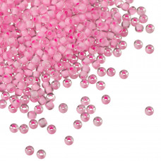 Koraliki TOHO Round 11/0 Inside-Color Crystal/Neon Carnation Lined