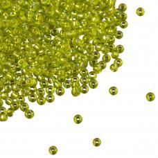 Koraliki TOHO Round 11/0 Silver-Lined Rainbow Lime Green