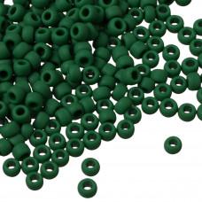 Koraliki TOHO Round 8/0 Opaque-Frosted Pine Green