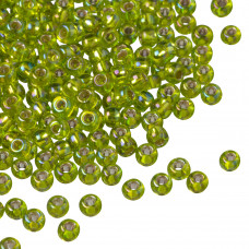 Koraliki TOHO Round 8/0 Silver-Lined Rainbow Lime Green