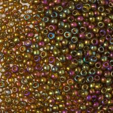Koraliki TOHO Round Gold-Lustered Dark Topaz 8/0