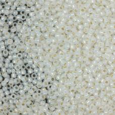 Koraliki TOHO Round Silver-Lined Milky White 11/0