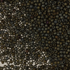 Koraliki TOHO Round Frosted Metallic Iris Brown 11/0