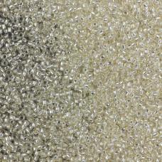 Koraliki TOHO Round Silver-Lined Crystal 15/0
