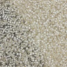 Koraliki TOHO Round Silver-Lined Frosted Crystal 15/0