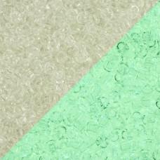 Koraliki TOHO Round 8/0 Glow In The Dark Crystal/Glow Green