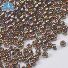 Koraliki TOHO Round 8/0 Gold-Lined Rainbow Black Diamond