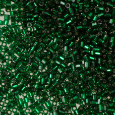 Koraliki TOHO Hex 11/0 Silver-Lined Green Emerald