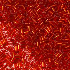 Koraliki TOHO Bugle 3mm Silver-Lined Siam Ruby