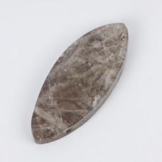 Zawieszka kaboszon wrzeciono kryształ górski gotycki 67x27mm