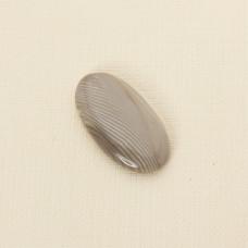Krzemień pasiasty kaboszon owal 36x20 mm