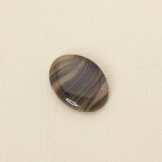 Krzemień pasiasty kaboszon owal 31x23 mm
