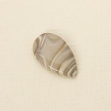 Krzemień pasiasty kaboszon łezka 37x22 mm