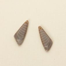 Krzemień pasiasty komplet do kolczyków 31x12 mm