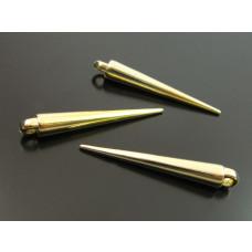 Kły akrylowe metalizowane w kolorze złota 34x5mm