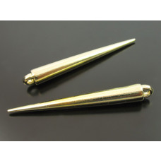 Kły akrylowe metalizowane w kolorze złota 53x6mm
