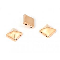 Ćwieki piramidki w kolorze rose gold 10x10mm