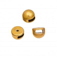 Koralik półkole małe kolor złoty 9mm