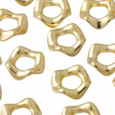 Koralik kółeczko gniecione koloru złotego 5x20mm