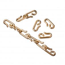 Zapięcie akrylowe złote do dużych łańcuchów 34x17mm