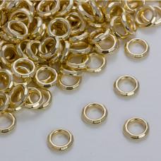 Przekładka pierścionekw złotym kolorze ze ściętymi krawędziami 12mm