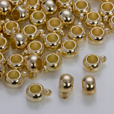Gładka krawatka do rzemieni w złotym kolorze 12mm