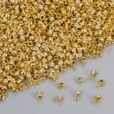 Drobna gładka krawatka w kolorze złotym 4mm
