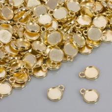 Dwustronna baza do zawieszki w kolorze złotym 10mm