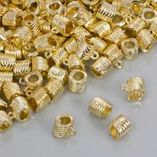 Krawatka przeplatana w kolorze złotym 4.5mm