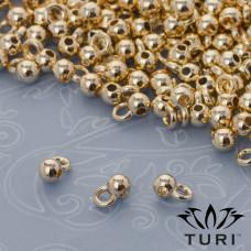 Krawatka kulka w złotym kolorze 1mm