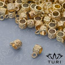 Krawatka ze wzorkiem w złotym kolorze 4.5mm