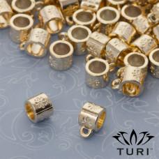 Krawatka z kwiatami w złotym kolorze 5mm