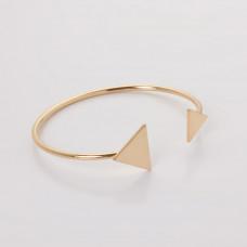 Bransoletka z mosiądzu płaskie trójkąty 16-21cm