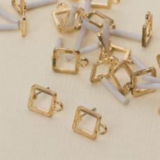 Kolczyki kwadraty wycięte z oczkiem 14 mm